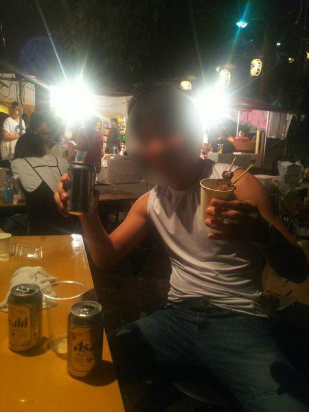 氷川神社祭りで飲み