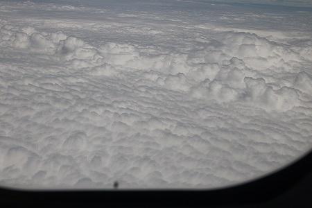 窓席からの雲