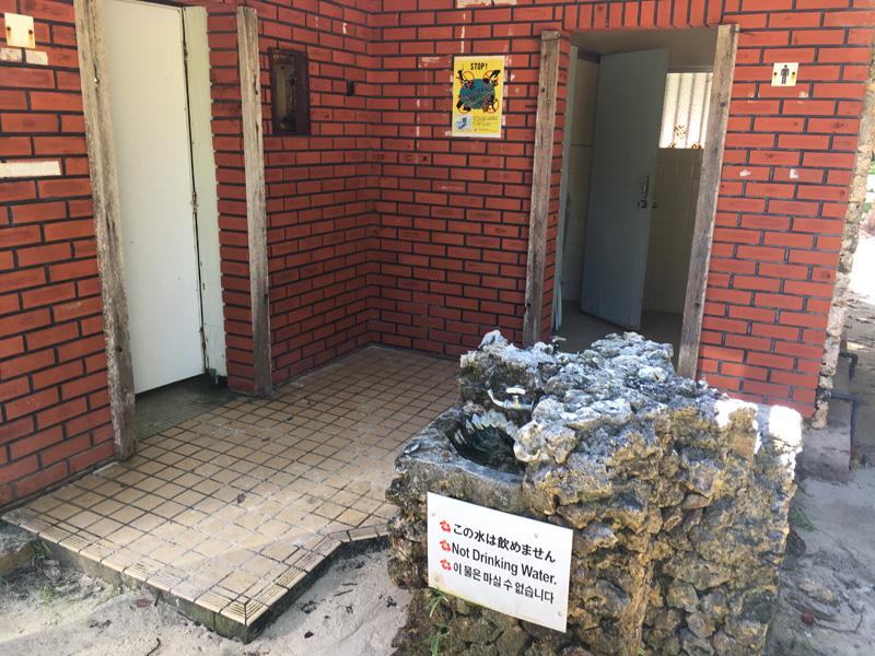 米原ビーチのトイレ