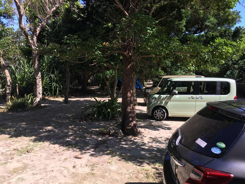 米原ビーチの無料駐車場
