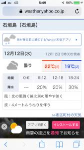 石垣島の天候